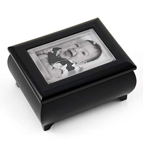 3X2 Wallet Size Matte Black Photo Frame Music Box with New Pop-Out Lens System - Love Me Tender