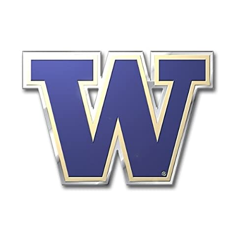 NCAA Washington Huskies Die Cut Color Automobile Emblem - University Chrome Car Emblem