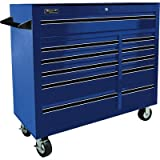 Homak BL04011410 41-Inch Pro Series 11 Drawer Rolling Cabinet, Blue