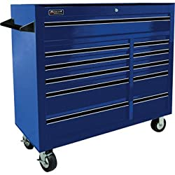 Homak BL04011410 41-Inch Professional Series 11-Drawer Rolling Cabinet, Blue
