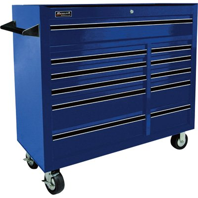 Homak BL04011410 41-Inch Professional Series 11-Drawer Rolling Cabinet, Blue by Homak Mfg. Co., Inc.