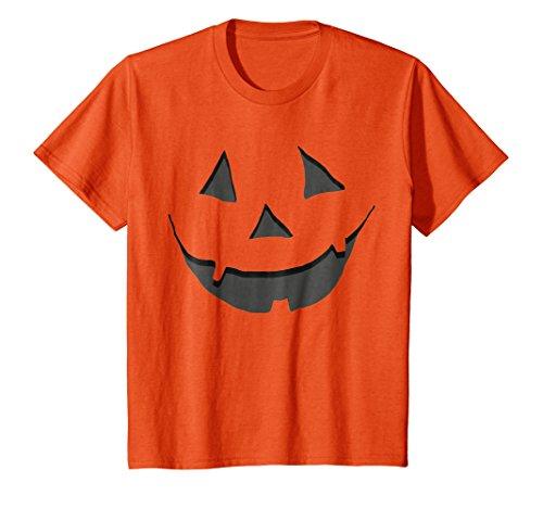 Kids Orange Jack O' Lantern Shirt - Halloween Pumpkin 10 Orange