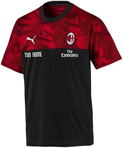 Maestri del Fútbol Camiseta Representación Negra Niño A.C. Milan 19/20 - Personalizado: Amazon.es: Deportes y aire libre