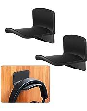 Ledot 2 Pack Adhesive Headphone Hanger Hooks for Wall & Desk Table with Screw Holes, Universal Gaming Headset Mount Holder, Earphone Rack