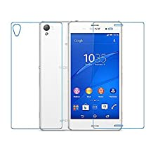 BisLinks® Front + Back Ultra Clear Tempered Glass Screen Protector Part for Sony Xperia Z3