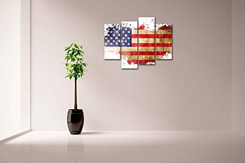 american flag in its countrys outline wall art painting. Black Bedroom Furniture Sets. Home Design Ideas