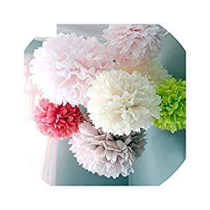 5pc 20 25 30cm Wedding Decoration Flower Pompom Tissue Paper DIY Artificial Flowers Merry Christmas Decoration 23