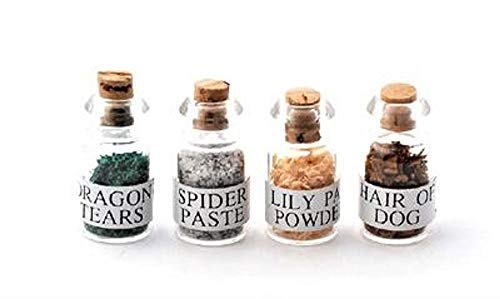 Melody Jane Dollhouse Witch's Potion Spell Ingredients in Jars 1:12 Halloween Accessory