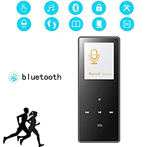 8G Bluetooth Mp3 Player 1.8 Inch Motion Capacitive Touch Mp4hifi Lossless Sound Quality Video Playback Pedometer Pink,Black