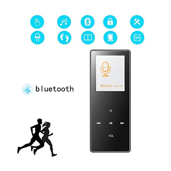 8G Bluetooth Mp3 Player 1.8 Inch Motion Capacitive Touch Mp4hifi Lossless Sound Quality Video Playback Pedometer Pink,Black 3