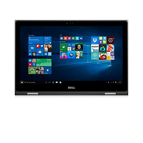"Dell i5568-5240GRY 15.6"" FHD 2-in-1 Laptop (Intel Core i7-6500U 2.5GHz Processor, 8 GB RAM, 1 TB HDD, Windows 10) Gray"