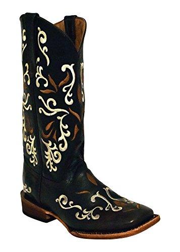 Ferrini Women's Gypsy Chocolate Cowgirl Boot Square Toe Chocolate 8 M