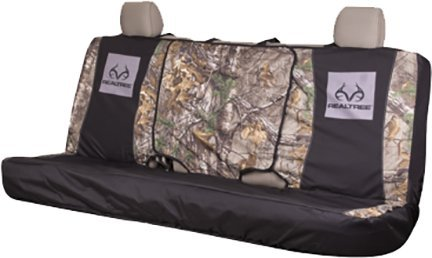 Realtree Camo Bench Seat Cover, Realtree Xtra, Full Size, Bench-Seat Cover With Fold-away Center Console Access, Water Resistant Polyester
