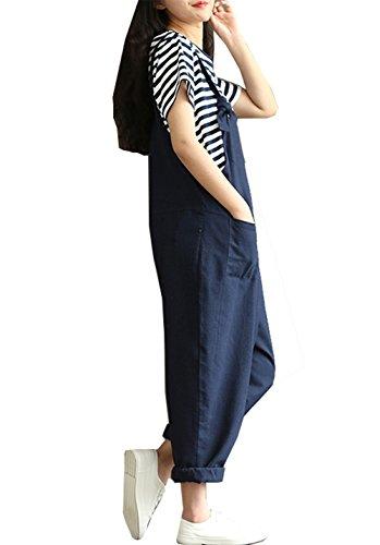 b40ce50d2f8 Hotmiss Women Plus Size Baggy Linen Overalls Wide Leg Pants Sleeveless  Rompers Jumpsuit Waist Haren Pants