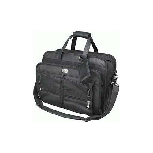 Tripp Lite NB1005BK Top-Load Black Leather/Nylon Corporate Notebook/Laptop Case