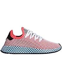 Women's Originals DEERUPT Runner Shoes Solar Red/Blue Bird