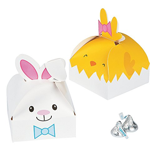 Easter Character Bunny and Chick Party Favor Boxes - 12 pieces by - Box Treat Easter