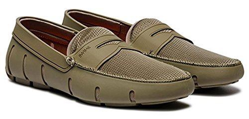 Zwemt Mens Penny Loafer Khaki