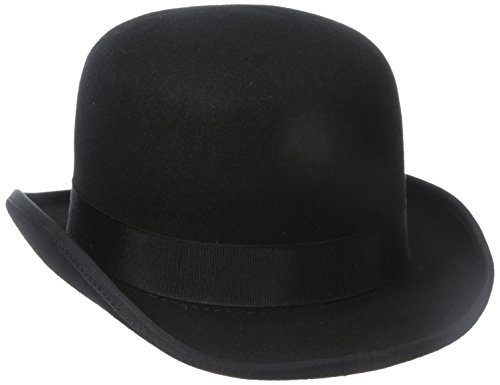 Stacy Adams Men's Wool Derby Hat, Black, Medium (Bowler Hat)