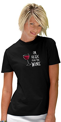 Epic Products I'm Here for The Wine T-Shirt, Large, Multicolor