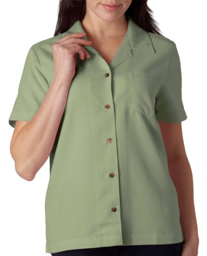 UltraClub® Ladies' Cabana Breeze Camp Shirt (Sage) (3X-Large)
