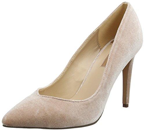 Dorothy Perkins Women's Velvet Evie Closed-Toe Heels Pink (Blush) XOHNPAb8