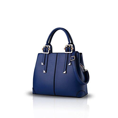 RUIREN Ladies Handbag Portable Shoulder Bag Casual Messenger Bag Azul