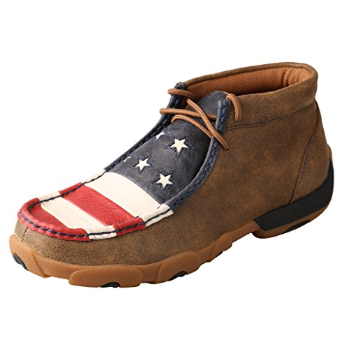 Twisted X Women's Vfw American Flag Driving Mocs Bomber 11 M US