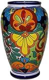 Colorful Mermaid Talavera Flower Vase