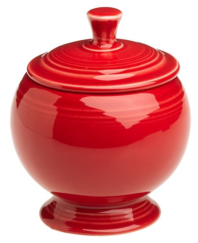 Fiesta Scarlet 498 9-Ounce Covered Sugar Bowl
