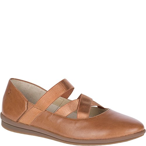 Hush Puppies Womens Meree Madrine Mary Jane Pelle Marrone Chiaro