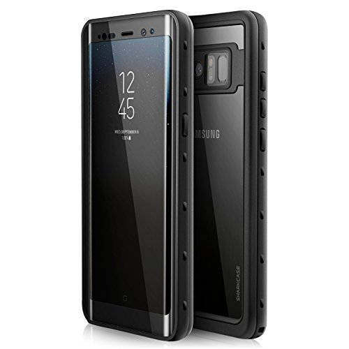 Samsung Galaxy Note 8 Waterproof Case - SHARKCASE IP68 Certified Underwater Protective Case with Built in Screen Protector for Samsung Galaxy Note 8, 6.3'', Black