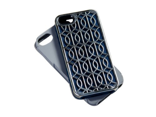 Tech Candy Jet Set Metal Effects Collection Cairo 3-Piece Iphone 5 Hard Soft Case (Cairo Collection)