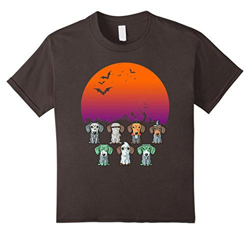 Kids Dachshund Halloween T-Shirt Funny Weiner Gift Shirt 12 (Halloween Weiner Costume)