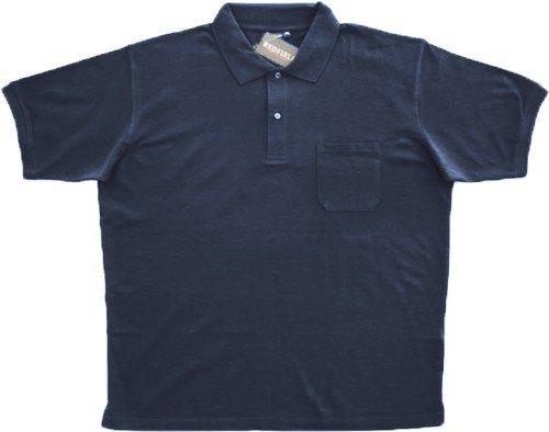 Piqué Poloshirt Herren Übergröße dunkelblau Redfield, XL Größe:4XL