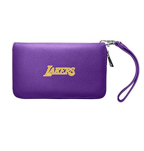 NBA Los Angeles Lakers Zip Organizer Pebble Wallet