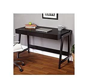 Black modern small corner computer desk is a perfect writing desks for small spaces - Small corner desks for small spaces collection ...