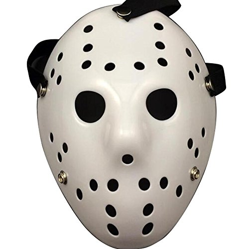 [NeoConcept Friday the 13th Jason Hockey Horror Deluxe Mask Halloween Party Cosplay Costume Mask] (Classic Jason Costume)