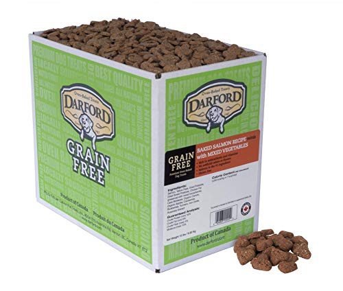 Darford Oven Baked Grain Free Dog Treats Salmon With Mixed Vegetables Minis, 15 Lb