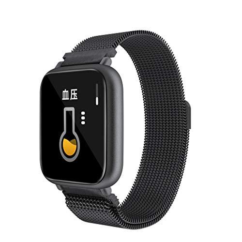 (Sports Watch Men Waterproof, Yezijin Q1 BT5.0 Smart Watch Bracelet Heart Rate Monitor IP68 Waterproof for iOS Android for Father Men Student Youth Teens Boyfriend Lover's Birthday)