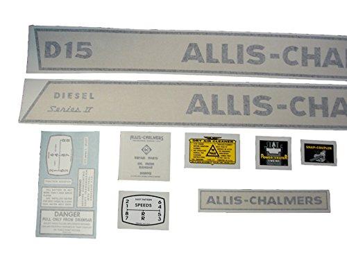 DJS Tractor Parts Allis Chalmers D15 Series II Diesel - Vinyl Decal Set - DJS309