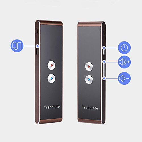 Smart Instant Voice Translator 30+ Languages Speech Interactive Translation for Android/iOS Mobile Phone High Recognition Ability(Black) by Carole4