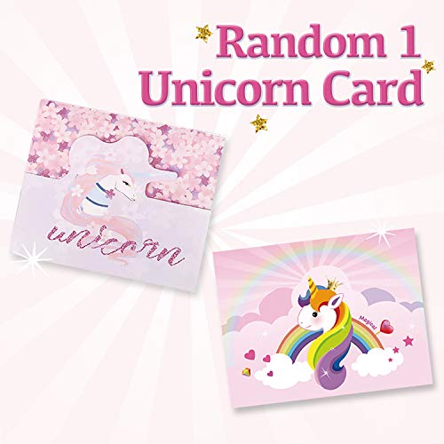 LittleBoo Unicorn Gift Set - Unicorn Squishy, Unicorn Slime, Unicorn Drawstring Backpack, Unicorn Card - Unicorn Gifts for Girls (Cream Cake Unicorn Squishy) by LittleBoo (Image #5)