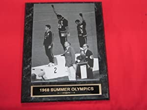 1968 Summer Olympics Salute Engraved Collector Plaque w/8x10 Vintage Photo