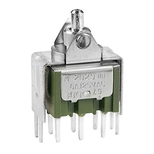 SWITCH ROCKER DPDT 6A 125V (Pack of 5) (M2029TXW13) by NKK Switches