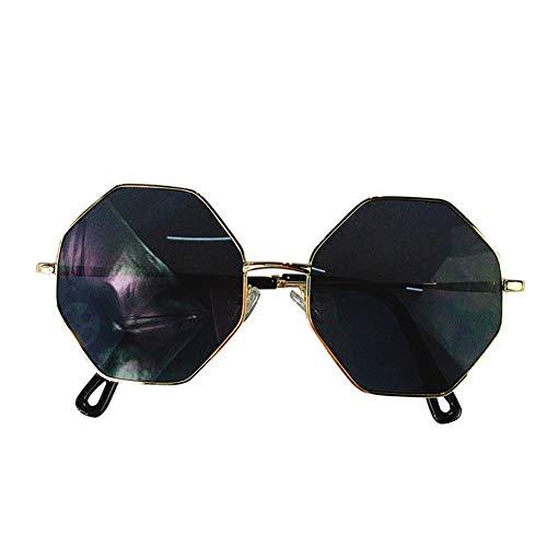 monture NIFG polygone rétro soleil mince de Lunettes marine à lunettes pièce de soleil c6rYWrf
