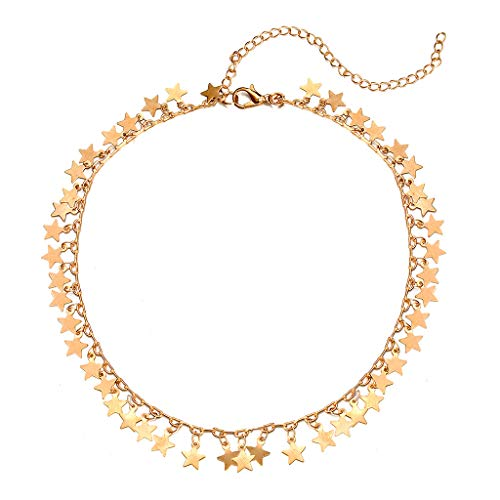 Clearance Sale!DEESEE(TM)Fashion Personality Sexy Five-Pointed Star Tassel Alloy Pendant Necklace