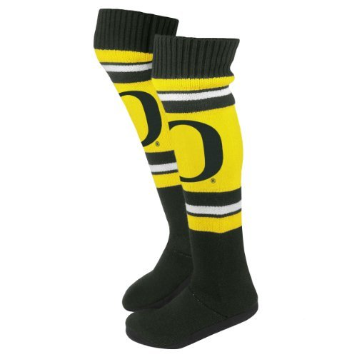 2013 Ncaa College Womens Knähöga Sticka Boot Tofflor Oregon Ducks