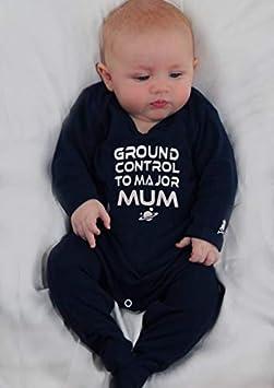 de la marca Baby Moos azul azul Talla:0-3 Meses Bodi de beb/é inspirado en GROUND CONTROL de David Bowie o ropa de Ziggy Stardust