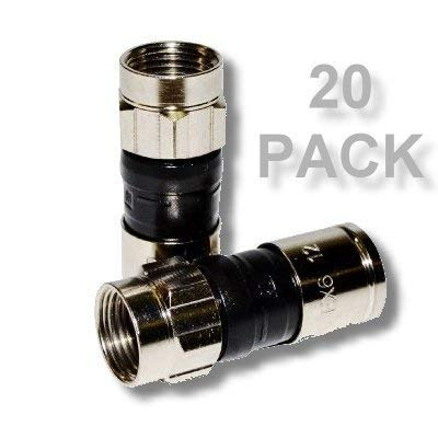 PPC EX6XL-PLUS Universal RG-6 Compression Connector 20 Pack